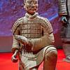 Boogschutter van het Terracotta leger uit Xian, China.Deze boogschutters konden hun stalen pijlen 800 meter ver schieten!