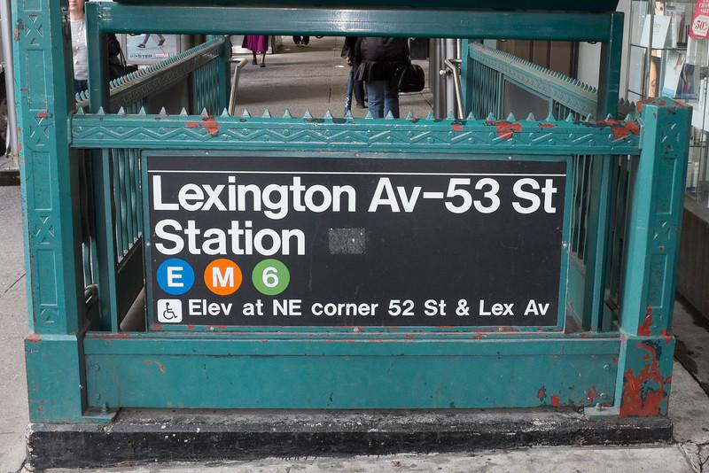 Lexington Ave subway