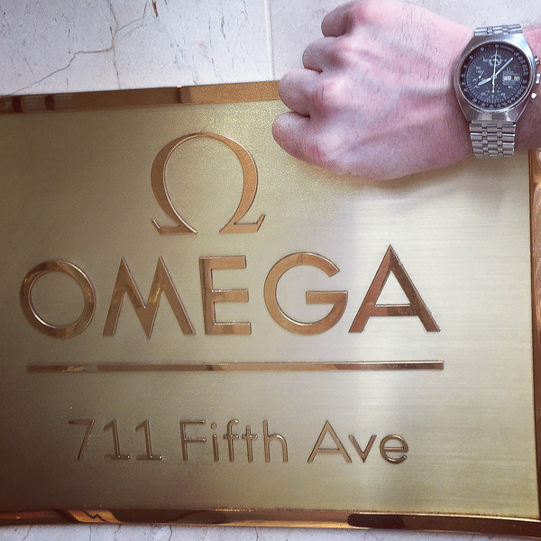 My Speedmaster at the Omega Store in Fifth