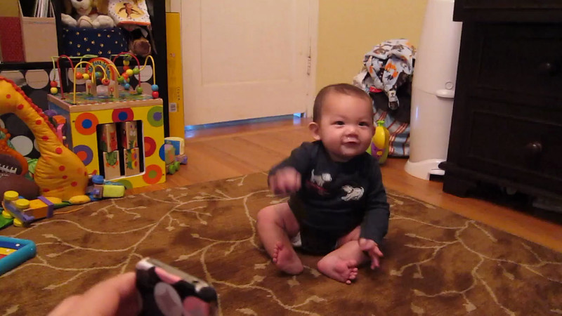 Nathan crawling for the first time! Thursday, December 27th.