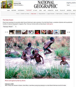 """I was lucky enough to have this photos selected as one of the """"Daily Dozen"""" for """"National Geographic"""". The photo was taken in Gabon, West Africa after a heavy rain."""