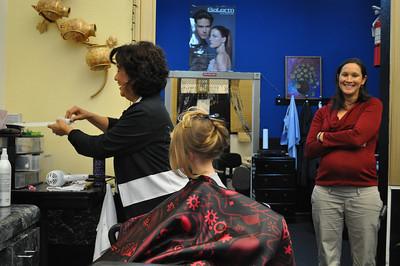 Nora Haircut May 2011