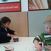 Frozen yogurt with toddlers...