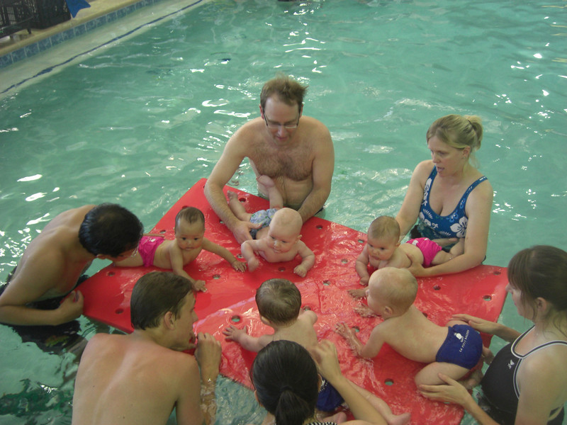 Nugget in swim class at La Petite Baleen