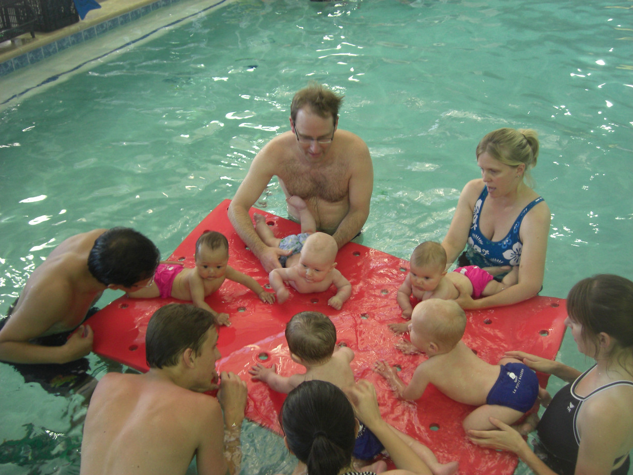 Nugget in swim class at La Petite Baleen