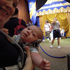 Mommy & Cole meeting the princesses at Disney.