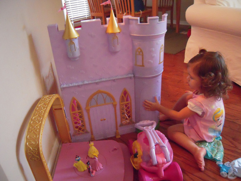 """Kate's """"new"""" Barbie castle from Cassey."""