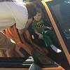 Austin's first ride in the orange car!