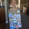 Chase's project for the Alphabet fashion show.  His letter was W.