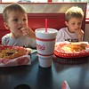 At Freddy's with Nana while we were in NYC.