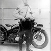 Frank Long-with-motorcycle-1930's-NJ State Police
