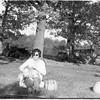 Gale (Gus Engel Wife)-with-dog+pumpkin-1960
