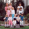 JoeyPreschoolClassPicture20042005Joey has on white shirt wit stripes far right top row of kids