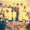l to r_Geneva Leming, Lillian Leming, Lennie Burke, Alice Leming, Ethel Leming Colgon, Mary Ann Leming, Katherine(Kitty) Leming_ children Carrie Leming, Janice Burke and Jeanne Colgon