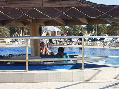 The swim-up bar at the Equestrian Club which is walkable from Ian & Caroline's villa.