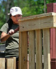 KaliaYang of Gardner an incoming Junior with Monty Tech JROTC works with Alternatives Unlimited Inc in working on the play area at Ovila Case Playground on Stuart St in Gardner. SENTINEL&ENTERPRISE/ JIM MARABELLO