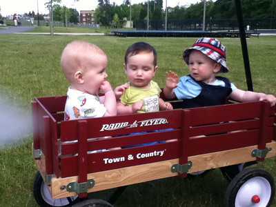 Just the boys came out to play in the park today. From left to right, Theo, Colin, Leo.