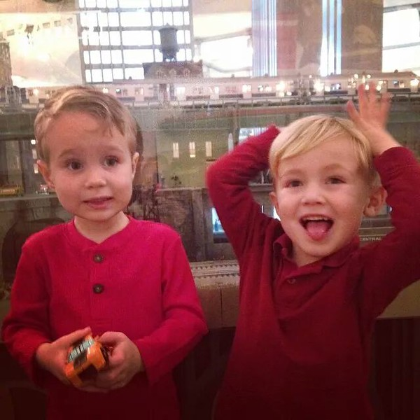 Checking out trains at Grand Central