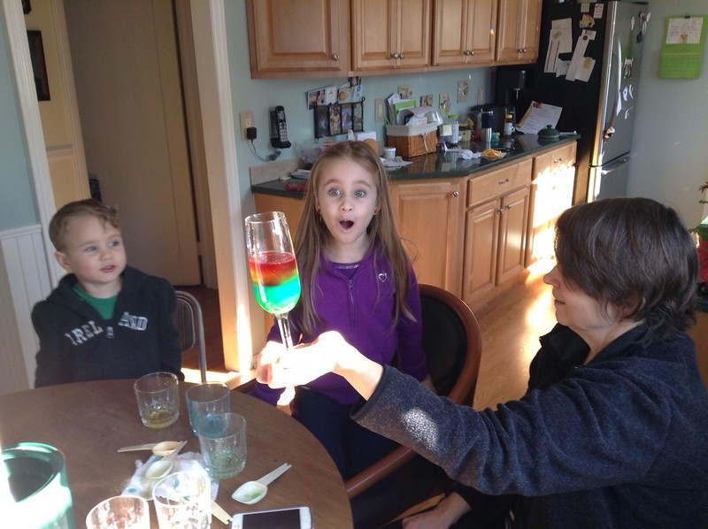 Cold weather science experiment with Nana