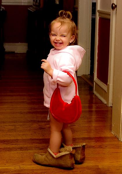 Going Shopping in Nana's Slippers