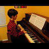 Kevin's practicing for him first piano recital.  He has been playing for about 4 or 5 months now.