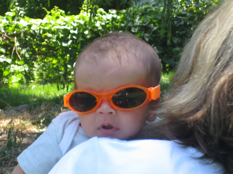 "Owen sporting his ""baby bans"""