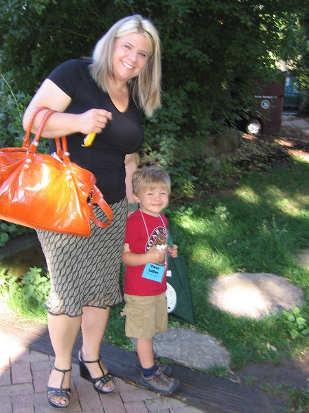 Second day of preschool - much happier with Mom