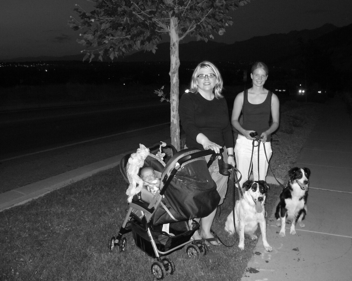 An evening hike to Scott and RaNae's