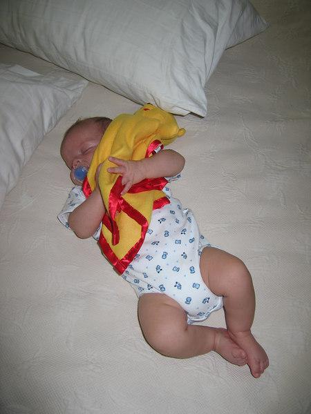 Pooh blanket from Grandma JoAnne