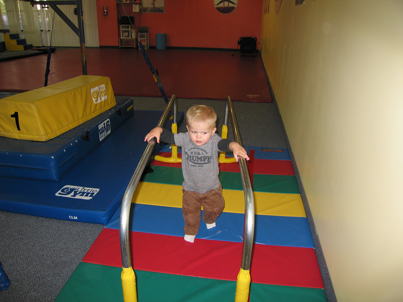 Owen really likes these parallel bar things