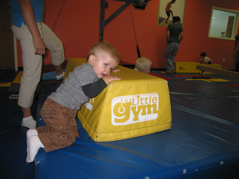This is what happens when Dad fails to get Owen down for a nap BEFORE Little Gym