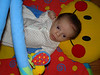 Reese on her activity mat - she either loves it or hates it on any given day.