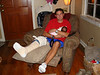 Scott with his bummed knee giving us a break during the Auburn vs. Florida football game.