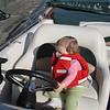 Landrum let Reese take his new boat for a spin!