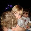 Noah giving Reese a hug.