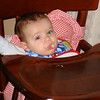 Owen in the highchair