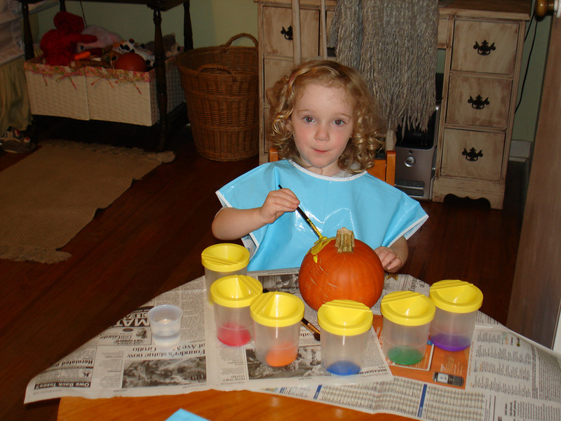 Fun activity #1 - Painting pumpkins