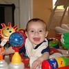 Owen enjoying the Exersaucer activities