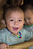 Laughing Paduang Baby Boy In Refugee Camp, Maehongson Thailand