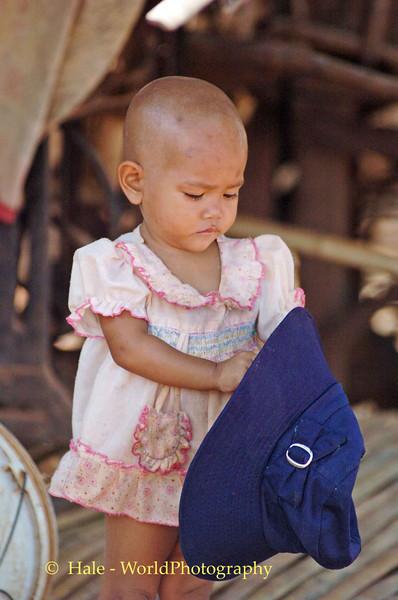 Phnom Krom Village Child, Tonle Sap Lake, Cambodia