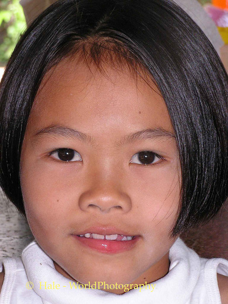 Young Lao Loum Girl On A Hot Isaan Afternoon - Tahsang Village Thailand