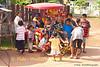 Lao Loum Children Hanging Around Ice Cream Cart