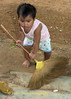 Lao Loum Child Cleaning, Tahsang Village Thailand