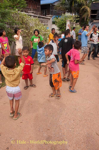 Young Boys Dancing to the Street Music In Tahsang Village