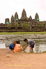 Children Playing In Front of Angkor Wat, Siem Reap Cambodia