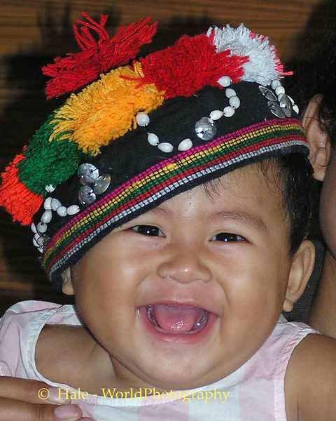 Baby Kwan Laughing It Up, Isaan Region Tahsang Village Thailand