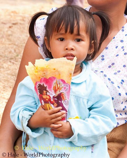 Fheng Enjoying a Snack