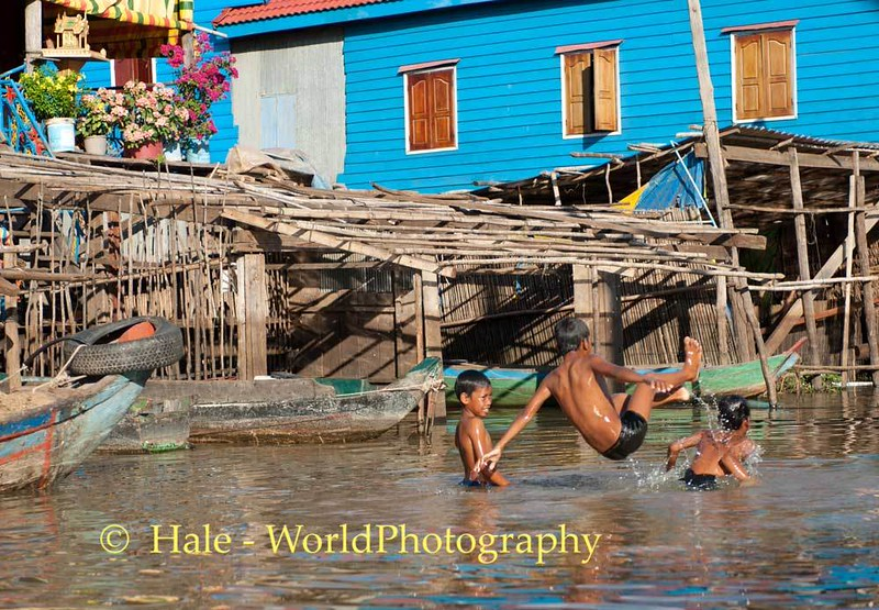 Boys Playing In the Street, Kampong Khleang