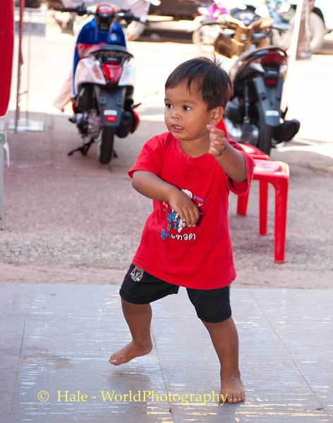 Young Boy Dances to the Music