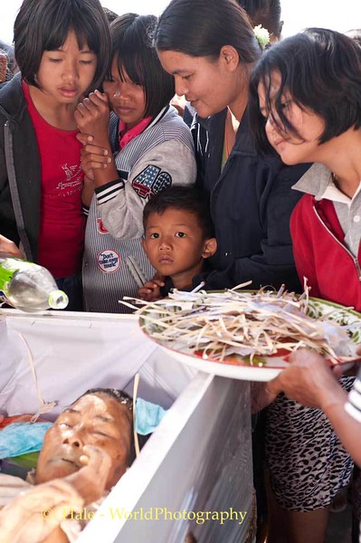 Young Mourners In Isaan
